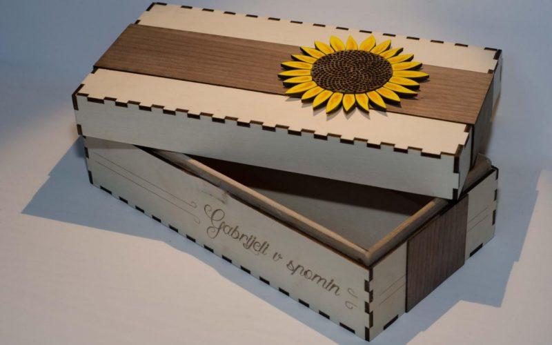 6. Darilna škatla-sončnica