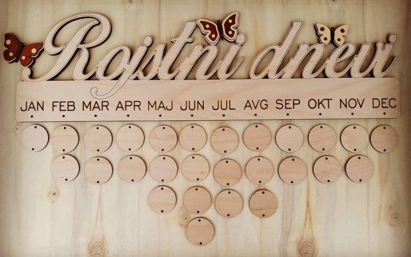 Lesena tabla za organiziranje rojstnih dni1