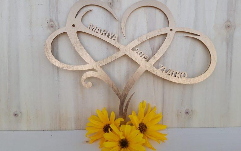 POROKE-poročna darila-dekorativni okrasek zlati